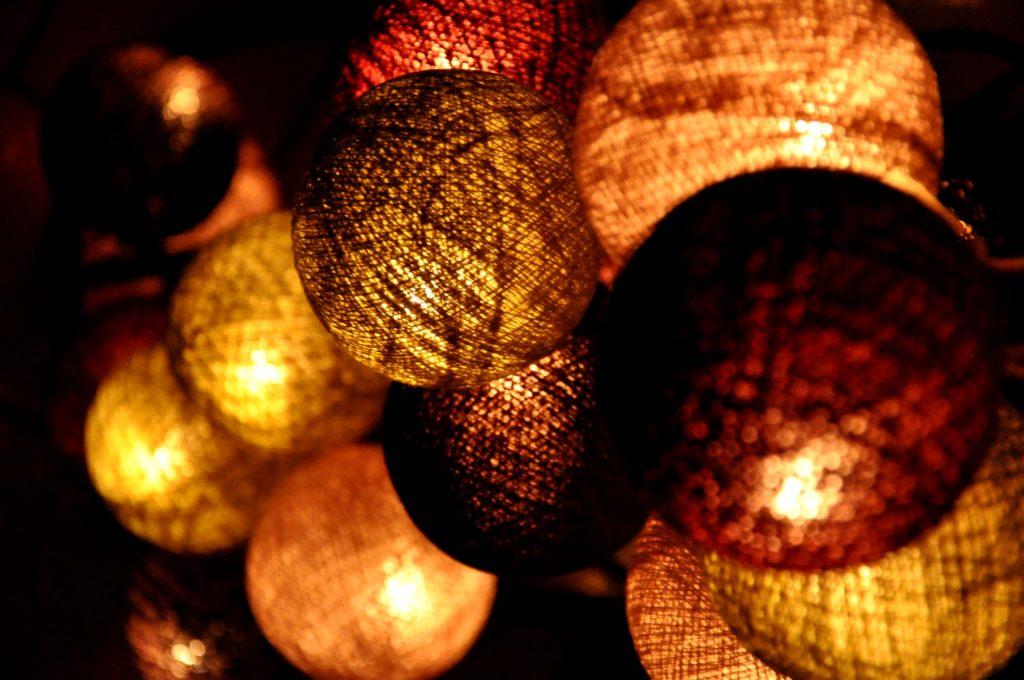 lumières, nuit, repos